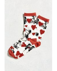 Urban Outfitters - Cupid Hearts Sock - Lyst