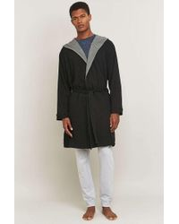 Bread & Boxers - Black Hooded Thermal Robe - Lyst
