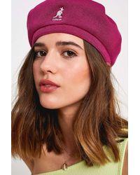 e7f391f8 Kangol Rock Art Rev Knit Beanie Hat in Yellow - Lyst