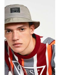 f6e88c7c Urban Outfitters - Uo Grey Crinkle Nylon Bucket Hat - Lyst