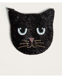 Urban Outfitters - Beaded Black Cat Zip Coin Pouch - Womens All - Lyst