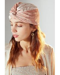 Urban Outfitters - Luxe Velvet Knot-front Beanie - Lyst