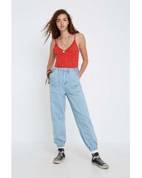 BDG - Luca Light Wash Denim Jogger Jeans - Womens 28w 32l - Lyst