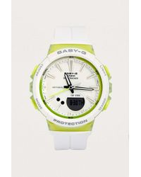 G-Shock - Baby-g White + Lime Watch - Womens All - Lyst