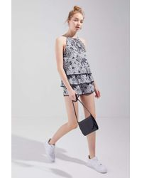 4a4eeb1bddb2 Urban Outfitters - Uo Kendal Keyhole Cutout Tiered Romper - Lyst