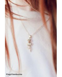 Urban Outfitters - Simple Rose Pendant Necklace - Lyst