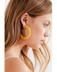 Adia Kibur - Ridged Resin Hoop Earring - Lyst