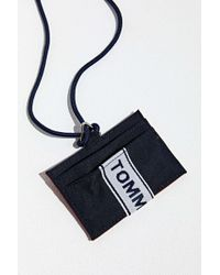 Tommy Hilfiger - Logo Tape Lanyard Card Holder Wallet - Lyst