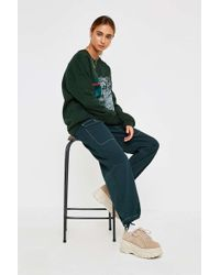 BDG - Green Contrast Stitch Utility Trousers - Womens L - Lyst