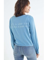 Urban Outfitters - It's A Good Day Long Sleeve Tee - Lyst