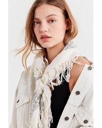 Urban Outfitters - Floral Tassel Scarf - Lyst