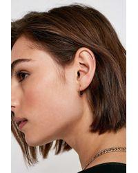 Urban Outfitters - Semi-precious Bead Mini Hoop Earrings - Lyst
