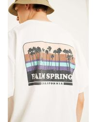 Urban Outfitters - Uo Palm Springs White T-shirt - Lyst