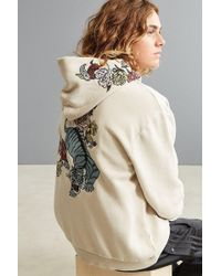 Urban Outfitters - Uo Tiger Floral Embroidered Hoodie Sweatshirt - Lyst