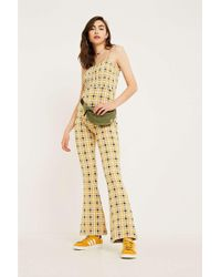 Urban Outfitters - Uo Smocked Check Jumpsuit - Lyst