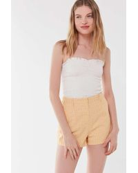 Urban Outfitters - Uo Prep Gingham High-rise Trouser Short - Lyst