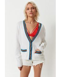Urban Outfitters | Uo Sloane Striped V-neck Cardigan | Lyst