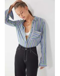 Urban Outfitters - Uo Sebastian Striped Button-down Shirt - Lyst