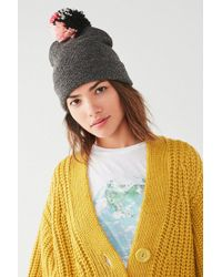 Urban Outfitters - Classic Multicolored Pompom Beanie - Lyst 1af71e62b587