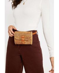 Urban Outfitters - Uo Structured Straw Belt Bag - Lyst