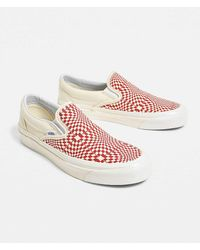 b0f8315434 Vans - Classic Red Checkerboard Slip-on 98 Dx Trainers - Lyst