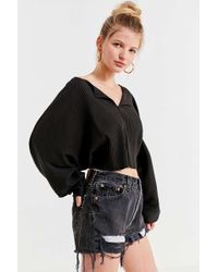 Kimchi Blue - Riki Ribbed Cropped Top - Lyst