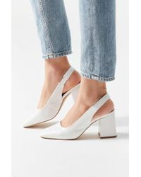 d552377007a3 Lyst - Urban Outfitters Yru Qloud Clear Platform Sandal in White