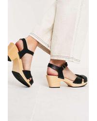 da030895737 Swedish Hasbeens Mirja Mid Heel Sandal in Gray - Lyst