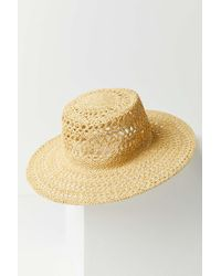 Urban Outfitters - Uo Open Weave Straw Panama Hat - Lyst