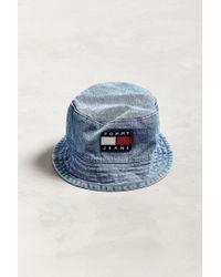 Tommy Hilfiger - Tommy Jeans '90s Sailing Denim Bucket Hat - Lyst