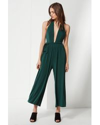 549efa8cdf6 Urban Outfitters - Uo Daria Plunging Tie Jumpsuit - Lyst