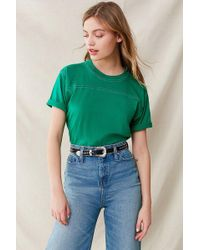 Urban Outfitters - Urban Renewal Remade Contrast Stitch Crew-neck Tee - Lyst