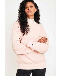 Champion - X Uo Blush Pink Crew Neck Sweatshirt - Womens Xs - Lyst