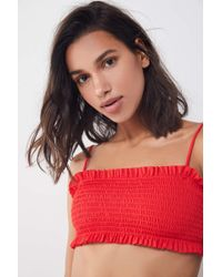 Out From Under - Shirred Bandeau Bikini Top - Lyst