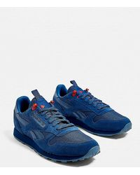 fc3b4be03955 Reebok Leather So Trainers White vital Blue primal Red light Grey in ...