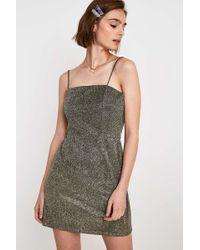 2f1ac9ac9b Urban Outfitters - Uo Colette Black + Gold Metallic Moonbeam Mini Dress -  Womens Xs -