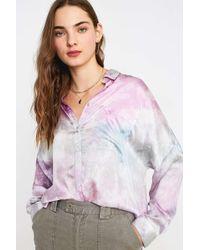 Urban Outfitters Uo Pastel Tie-dye Boyfriend Shirt - Womens L
