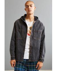 Urban Outfitters - Uo Hooded Denim Button-down Shirt - Lyst