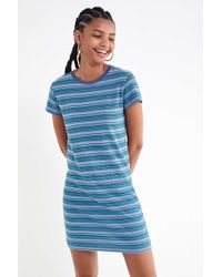 aedf48c17a Urban Outfitters - Uo Striped Ringer T-shirt Dress - Lyst