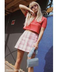 Urban Renewal - Remnants Pastel Plaid Skirt - Lyst