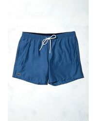 Lacoste - Croc Blue Swim Trunks - Lyst