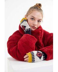 Urban Outfitters - Fair Isle Fingerless Glove - Lyst