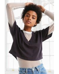 Truly Madly Deeply - Cooper Crop V-neck Tee - Lyst