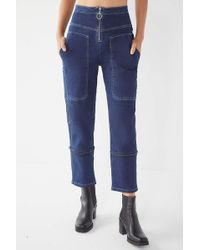 Urban Outfitters - Uo Max Contrast Stitch Straight-leg Jean - Lyst