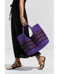 Urban Outfitters - Raffia Slouchy Tote Bag - Lyst
