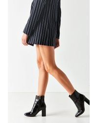 Urban Outfitters - Sloane Seamed Patent Leather Ankle Boot - Lyst