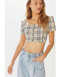 Urban Renewal - Remnants Femme Plaid Cropped Top - Lyst