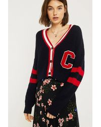 Urban Outfitters - Uo Varsity Crop Cardigan - Lyst