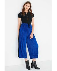Silence + Noise - Sasha Accordion Pleat Culotte Pant - Lyst
