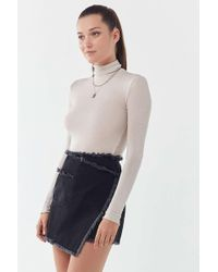 Urban Outfitters - Uo Frayed Wrap Mini Skirt - Lyst